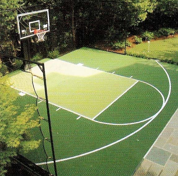 Pacific ace tennis multisport courts surfaces equipment for Residential basketball court dimensions