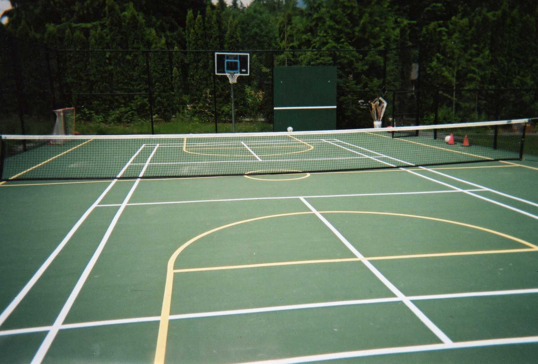 Pacific ace tennis multisport courts surfaces equipment for Sport courts